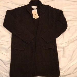 Bloomingdales 100% wool sweater cardigan